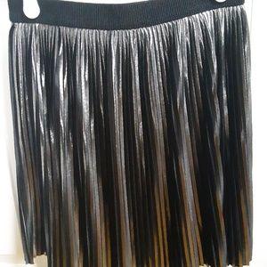 Express metallic pleated mini skirt WORN TWICE
